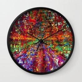 colourful peace Wall Clock