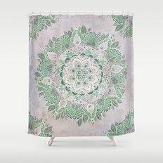 Spring Rain Mandala Shower Curtain