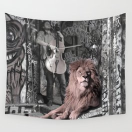 Listening the music. African Invasion. Wall Tapestry