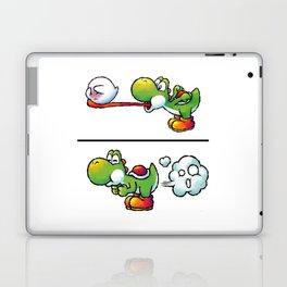 Farting Yoshi Green Laptop & iPad Skin