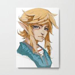 Link Portrait Metal Print
