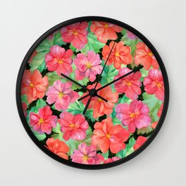 Begonia Wall Clock
