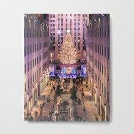 Rockefeller Center Christmas Tree Metal Print