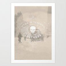 Vitam In Tenebris Luctuque Art Print