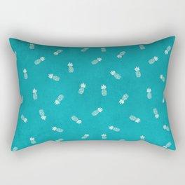 Pineapples on sky blue Rectangular Pillow