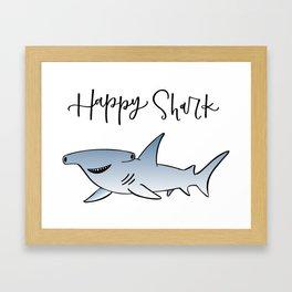 Happy Shark - Custom Framed Art Print
