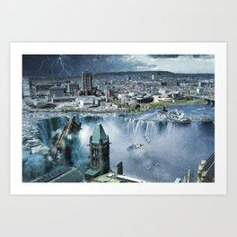 Earth Falls Away Art Print