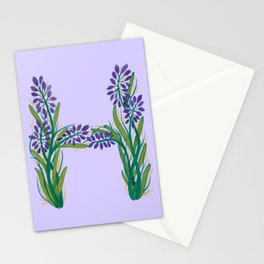 Leafy Letter H Stationery Cards
