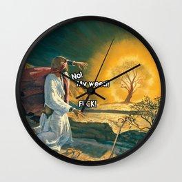 Moses and the Burning Bush (420 Parody) Wall Clock