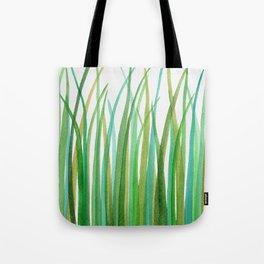 Green Grasses Tote Bag