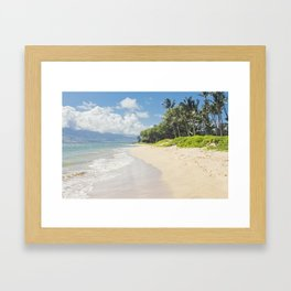 Kawililipoa Beach Kihei Maui Hawaii Framed Art Print