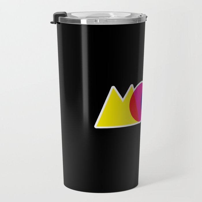 Mood Meme Colorful Geometric Typography Travel Mug
