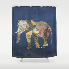 Elephant - The Memories of an Elephant Shower Curtain