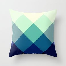 Teal Green Diamond Argyle Throw Pillow
