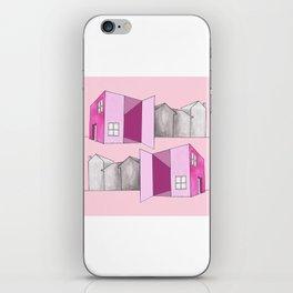 Pink home iPhone Skin
