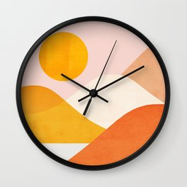Abstraction_Mountains_Minimalism_001 Wall Clock