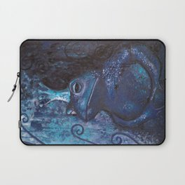 The Frog King - blue Laptop Sleeve