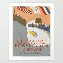 Vintage poster - Lake Placid Art Print