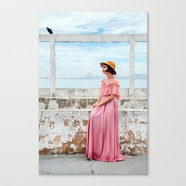 Woman in pink Canvas Print