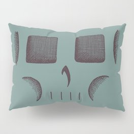 Skull Linework (Black / Teal) Pillow Sham