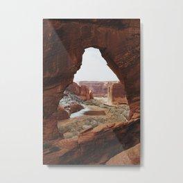 Window Rock Metal Print