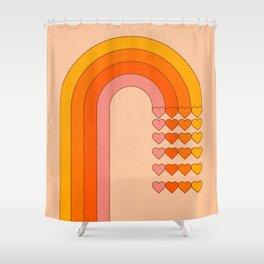 Sweetheart Rainbow Shower Curtain