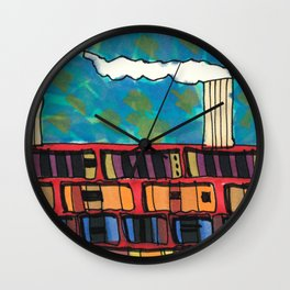 Ship at Sea Illustration 56 Wall Clock