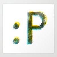 emoticon Art Print