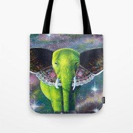 Galaxy Elephant Tote Bag
