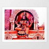 hindu Art Prints featuring Hindu 2 by very giorgious