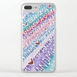 Grandma Love Clear iPhone Case