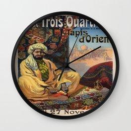 Vintage poster - Aux Trois Quartiers Wall Clock