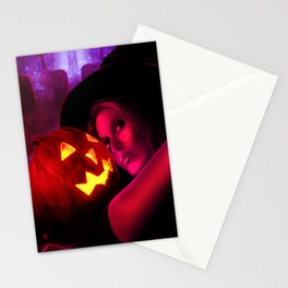 Halloween Witch 2011 Stationery Cards