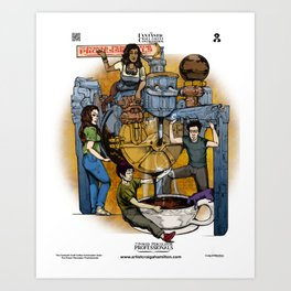The Fantastic Craft Coffee Contraption Suite - The Power Percolator Professionals Art Print