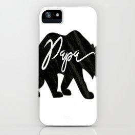 Cool Papa Bear iPhone Case