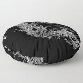 oakland map california Floor Pillow