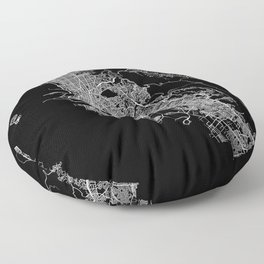 oakland map california Floor Pillow