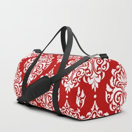 Red Damask Duffle Bag