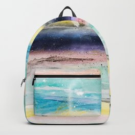 Summer watercolor abstract art design Backpack