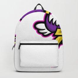 Ostrich Running Mascot Backpack