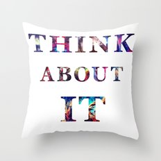 Space: Think About It Throw Pillow