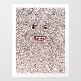 Hairy Guy Art Print