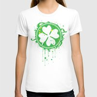 clover T-shirts featuring Patrick's clover by Sitchko Igor