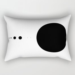 The Solar System (white, no description) Rectangular Pillow