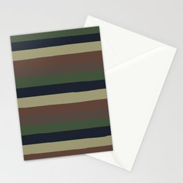 lumpy or bumpy lines abstract - QAB279 Stationery Cards
