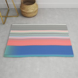 Gentle Flow Color Therapy Minimalist Meditation Print Rug