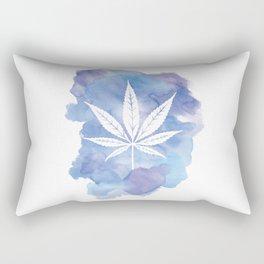 One Love: Blue Rectangular Pillow