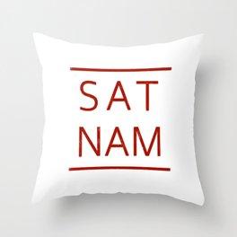 Sat Nam #RED Throw Pillow