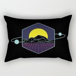 Outrun to the Sun / Spacewave / 80s Retro Rectangular Pillow