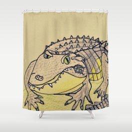 Grumpy Gator Shower Curtain